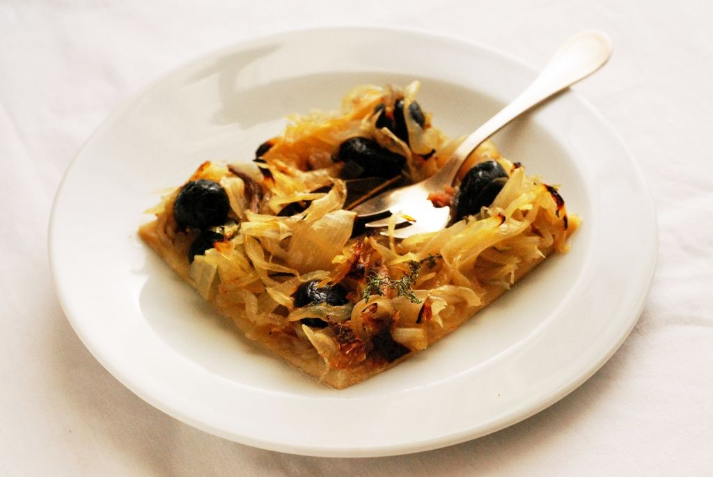 Mini pissaladiere (sült tészta)