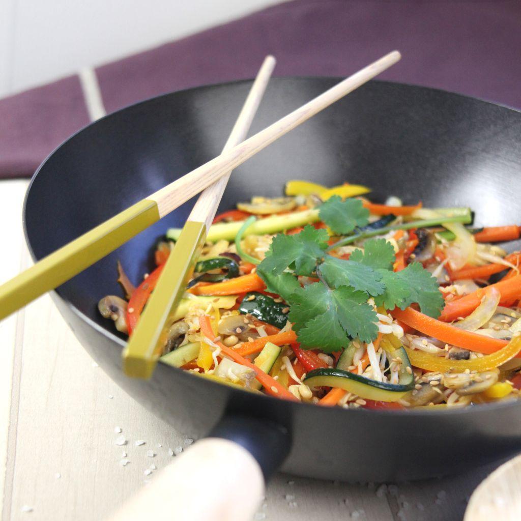 Zöldségek wokban
