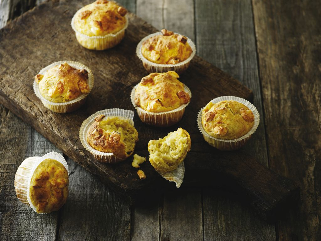 Zöldséges muffin brie sajttal