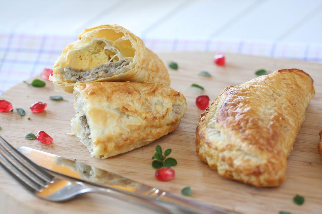 Bleu d'Auvergne sajtos, diós tekercs